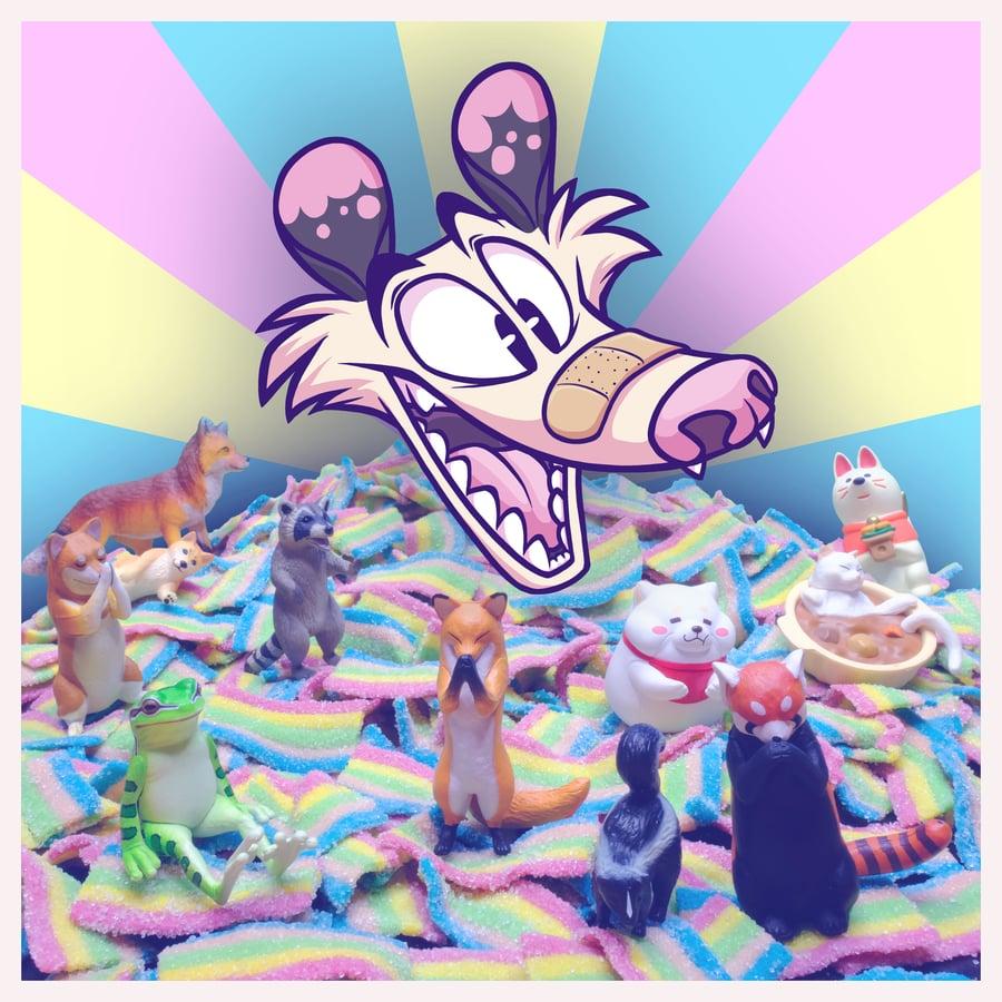 Image of plastic candy animals CD Digipak