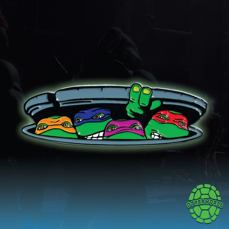 Image of TMNT Four Brothers lapel pin
