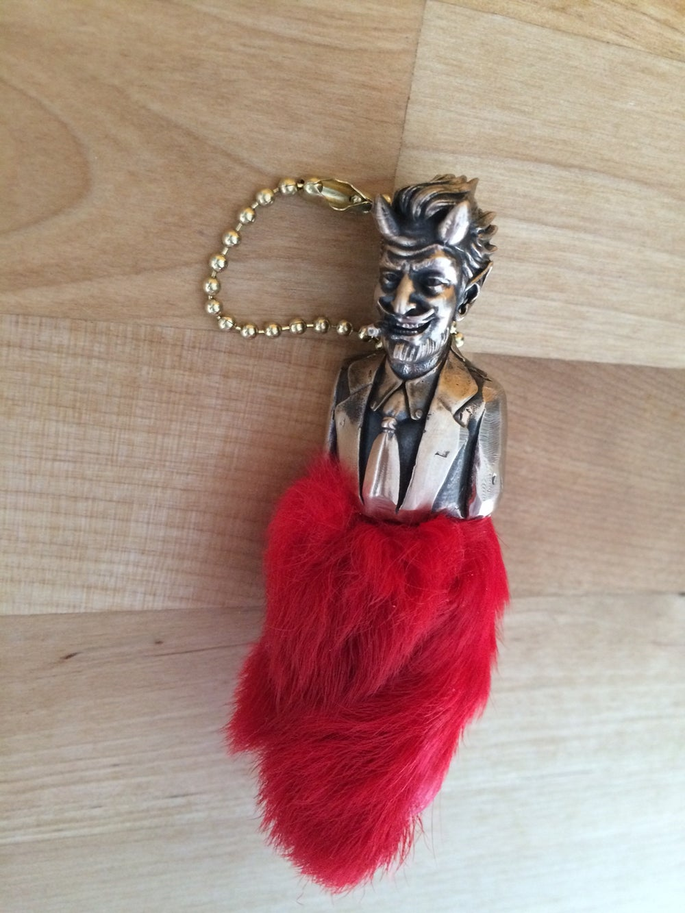 LUCKY DEVIL RABBIT FOOT KEYCHAIN