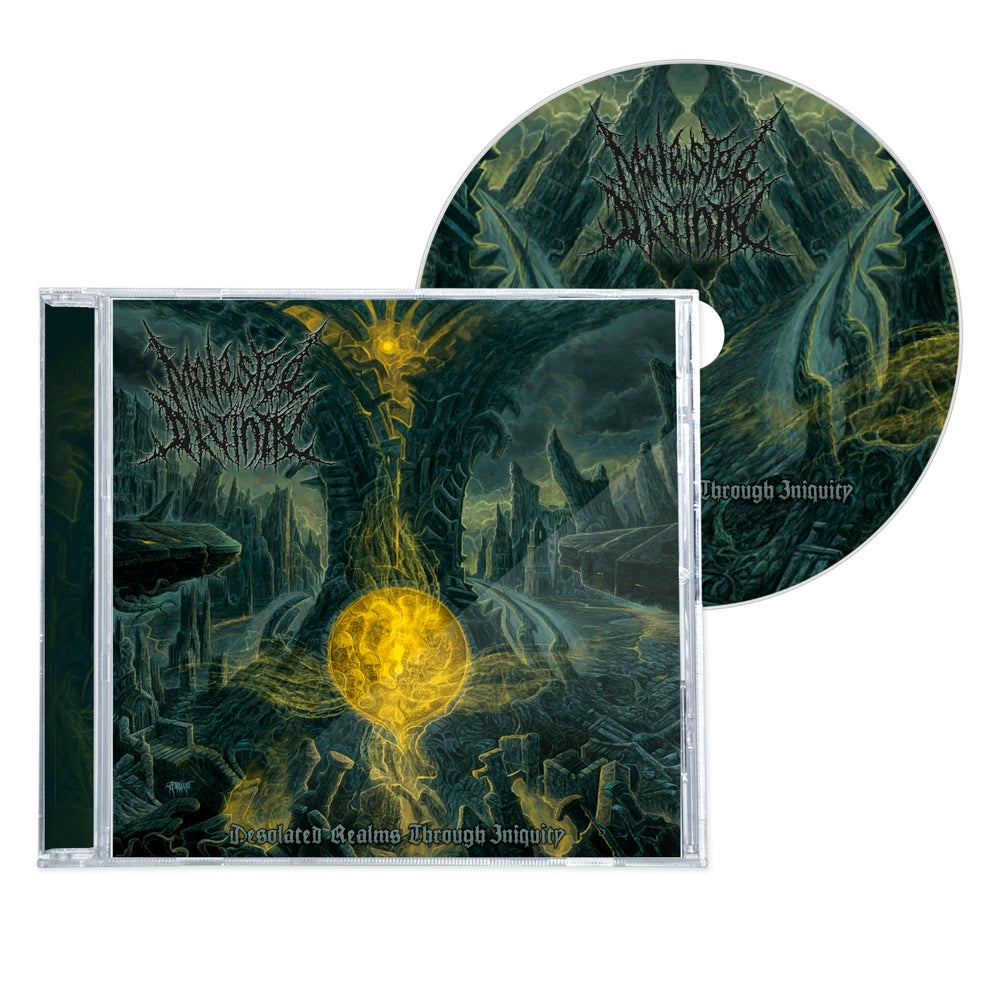 """Image of MOLESTED DIVINITY """"DESOLATED REALMS THROUGH INIQUITY"""" CD"""