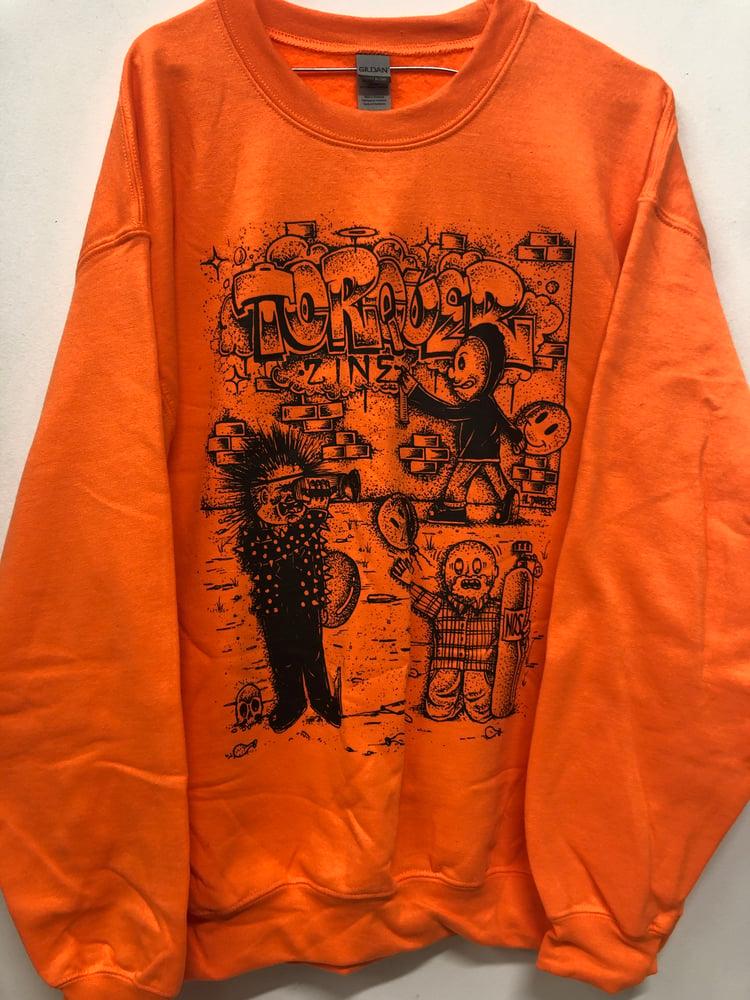 "Image of Bright Orange ""VHS"" Crewneck."