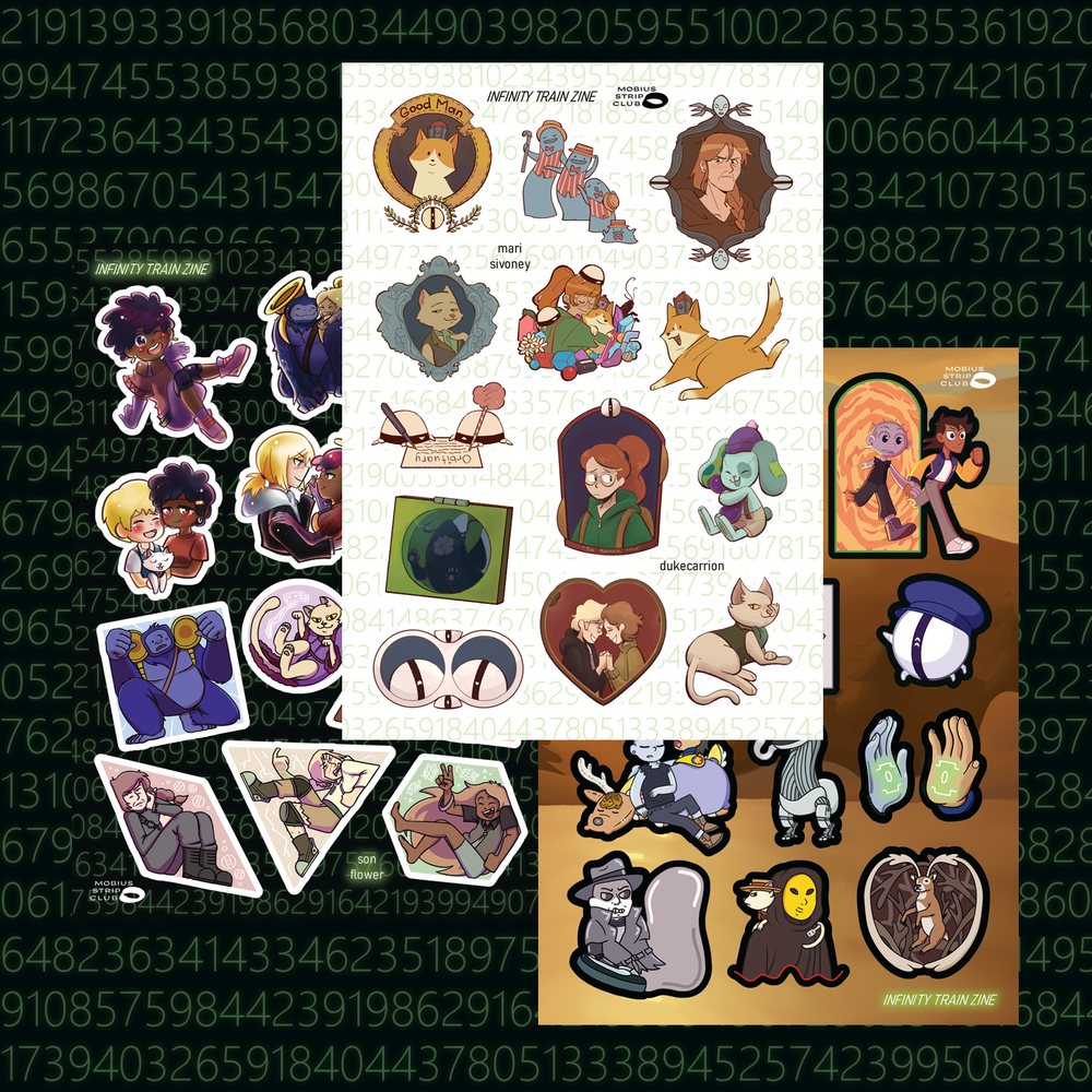 Sidetracked Sticker Sheets (PRE-ORDER)