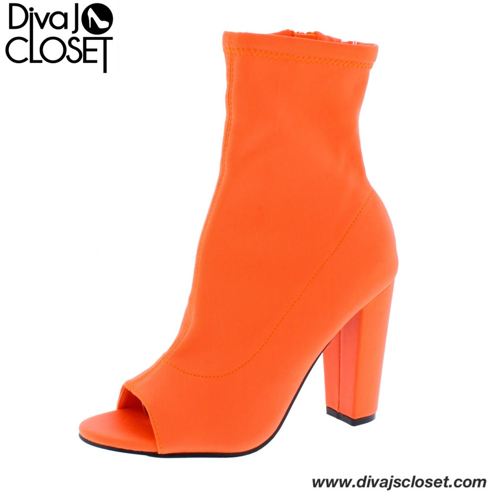 Image of Neon Orange Bootie