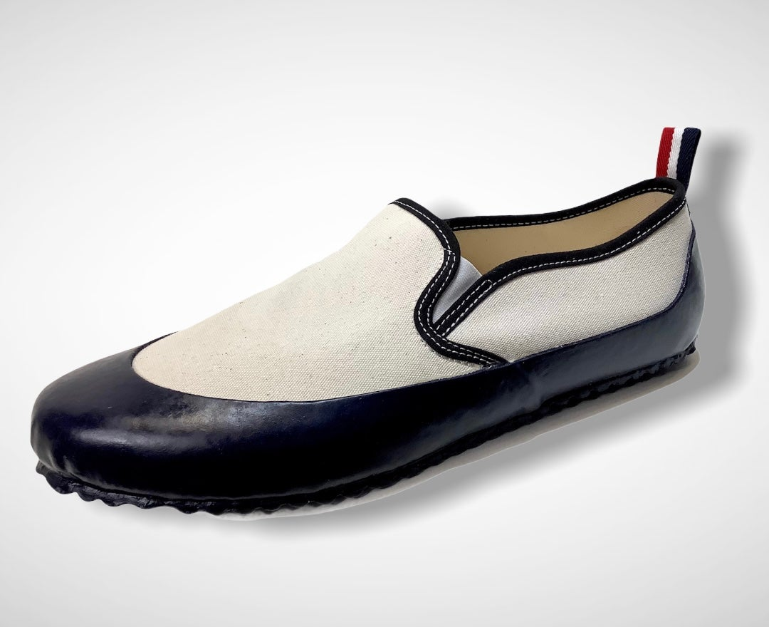 Image of ALLX x Quarter416 deck slip on sneaker shoes made in Romania