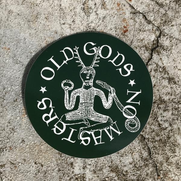 Image of Old Gods vinyl sticker - green