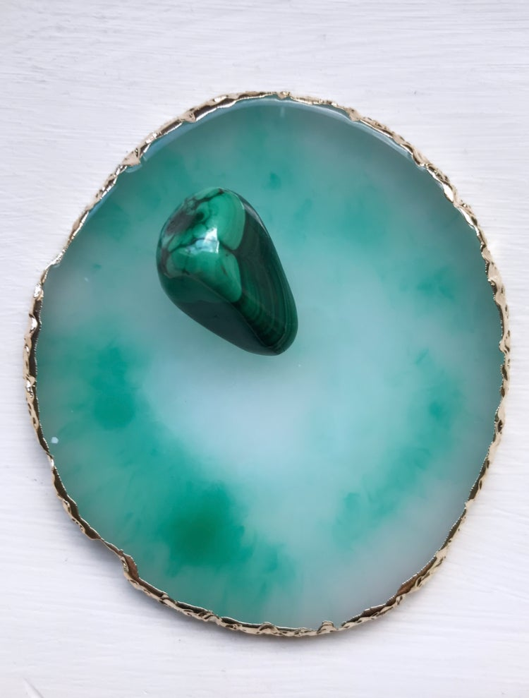 Image of Resin 'agate' coaster