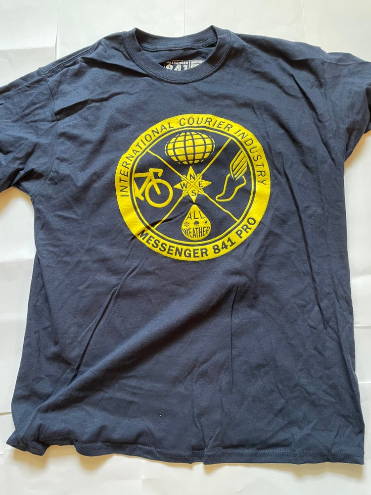 Image of Messenger 841 International Courier Tee NAVY Imperfection