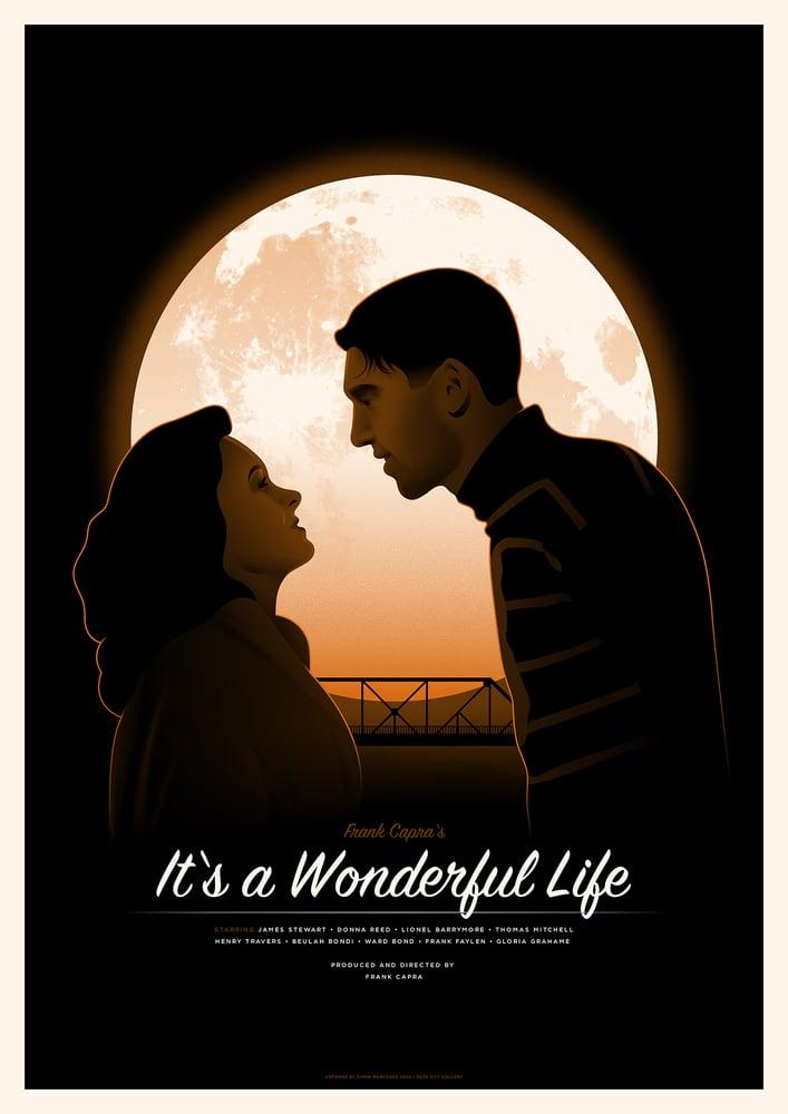 Image of It's a Wonderful Life Screenprint   Regular Edition