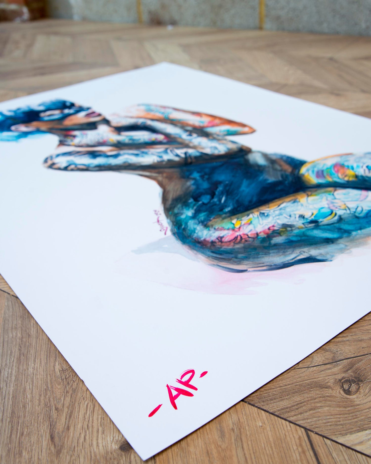 Image of Extremely Limited Edition 'MASK WATERCOLOUR' 'Artist Proof' Giclee Print