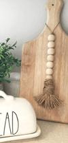 """Beaded string garland with jute loop 11.8"""""""