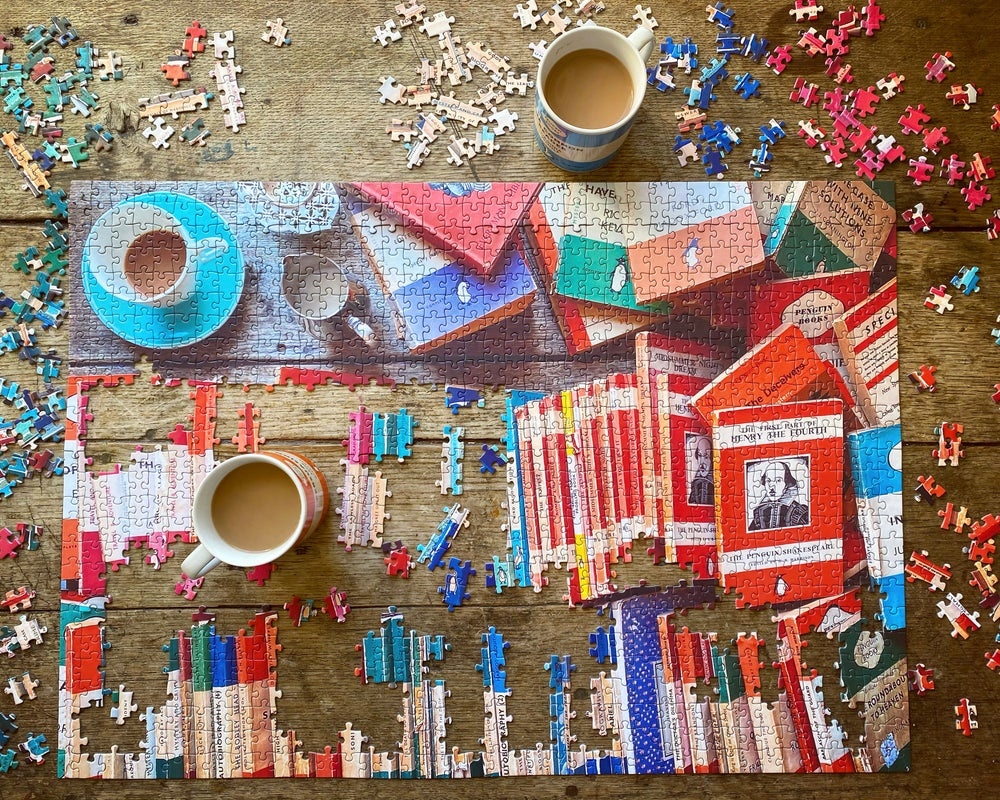 Image of 'Tea and Shakespeare' 1000 Piece Jigsaw Puzzle