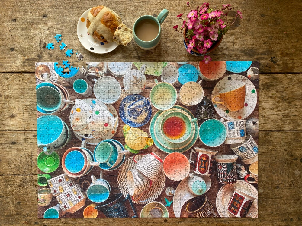 Image of 'Cup Collection' 1000 Piece Jigsaw Puzzle