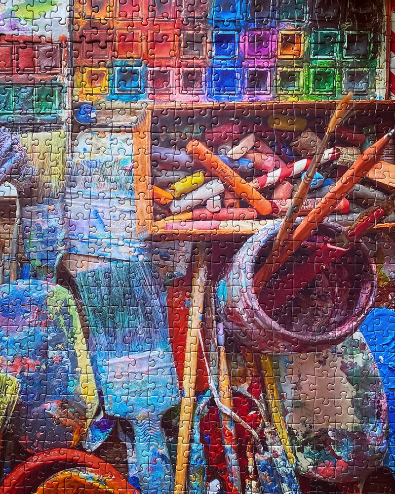 Image of 'Paints and Brushes' 1000 Piece Jigsaw Puzzle
