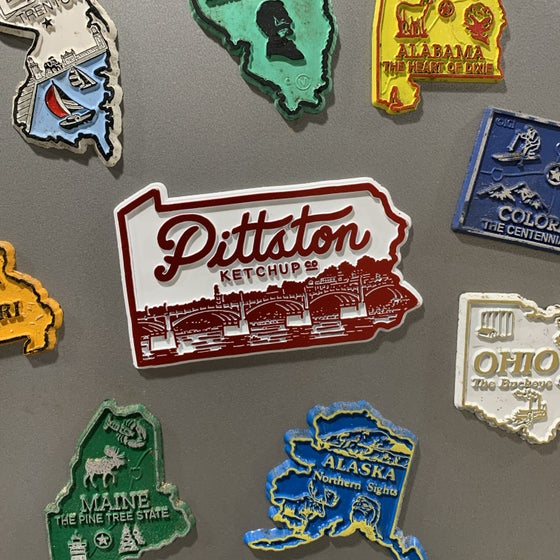 Image of Pittston Ketchup Retro State Magnet