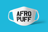 AFRO PUFF face Mask / Cover (white)