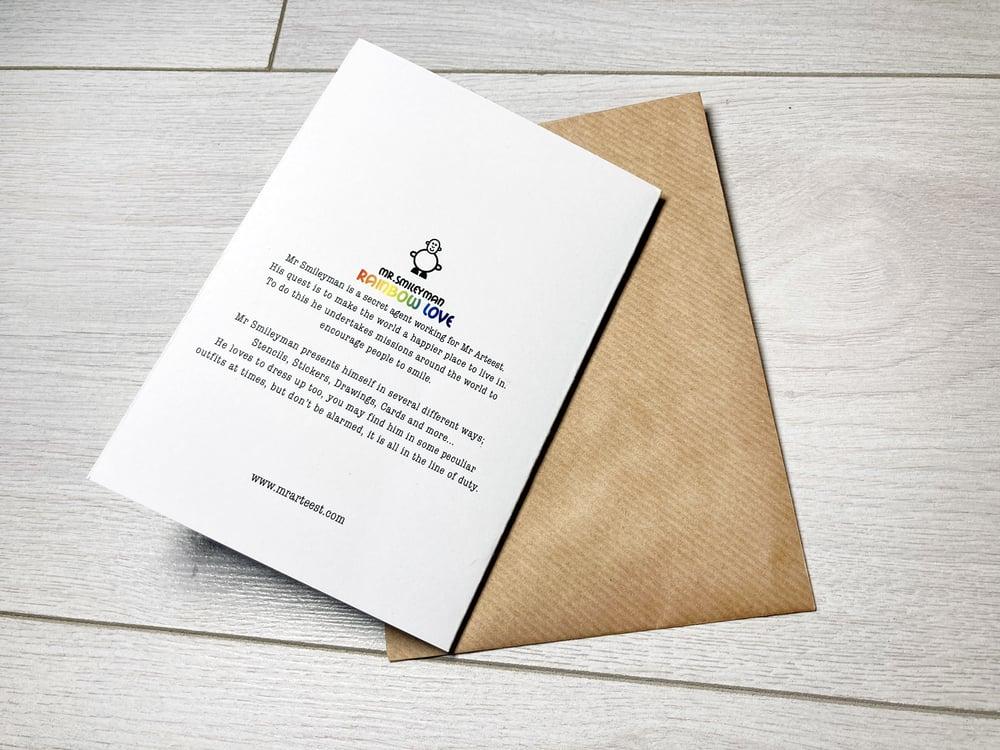 Mr Smileyman Rainbow Love Greeting Card