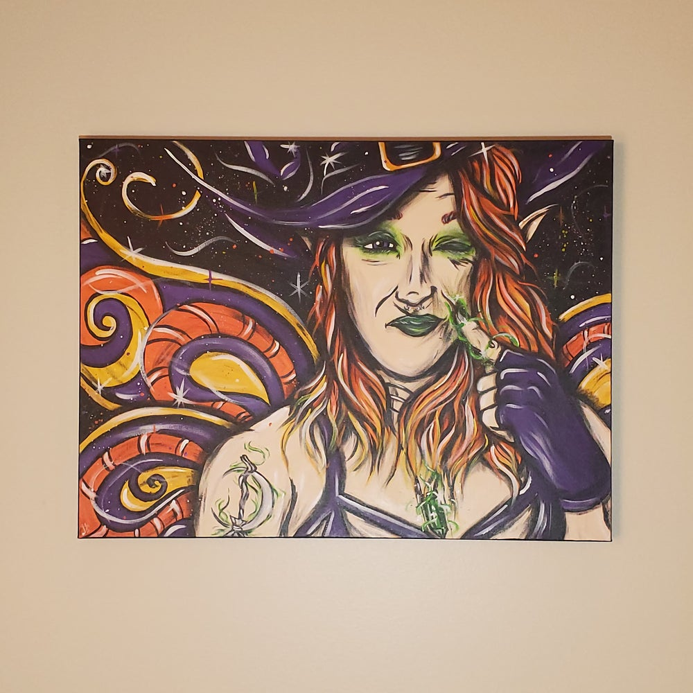 """""""The Witch Fairy"""" Painting"""
