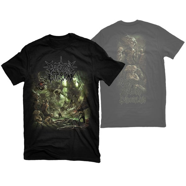 "Image of CEREBRAL EFFUSION ""OMINOUS FLESH DISCIPLINE"" T-SHIRT"