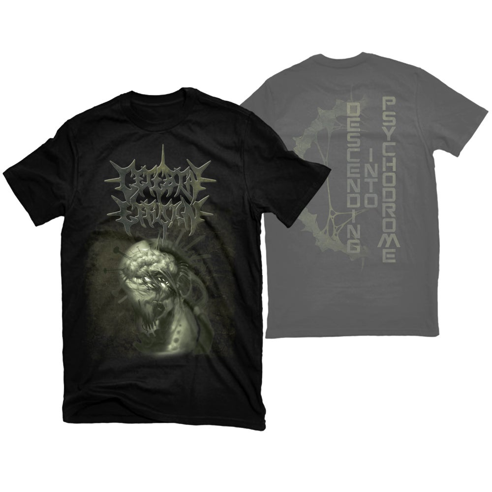 "Image of CEREBRAL EFFUSION ""DESCENDING"" T-SHIRT"