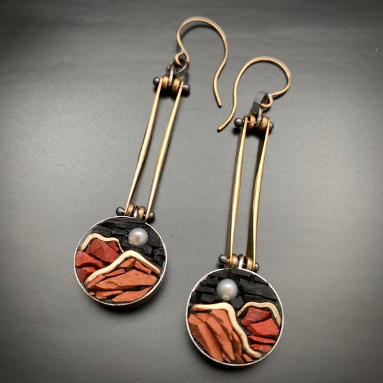 Image of Moon and Mountain Earrings