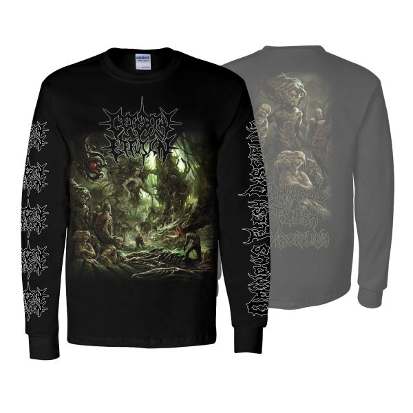"Image of CEREBRAL EFFUSION ""OMINOUS FLESH DISCIPLINE"" LONG SLEEVE"
