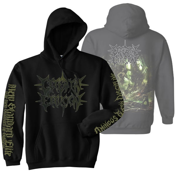 "Image of CEREBRAL EFFUSION ""OMINOUS FLESH DISCIPLINE"" HOODIE"