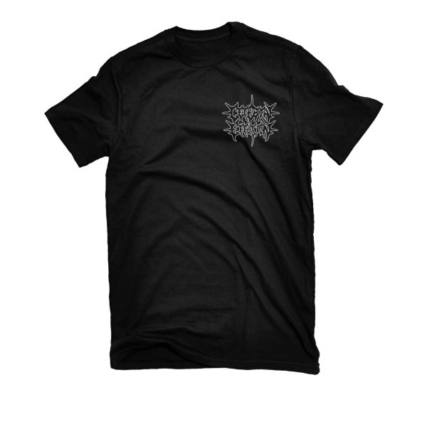 "Image of CEREBRAL EFFUSION ""POCKET PRINT LOGO"" T-SHIRT"