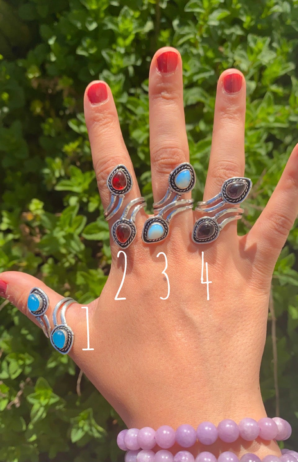 Image of adjustable rings sterling silver plated