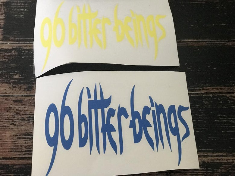 Image of 96 Bitter Beings custom vinyl decals