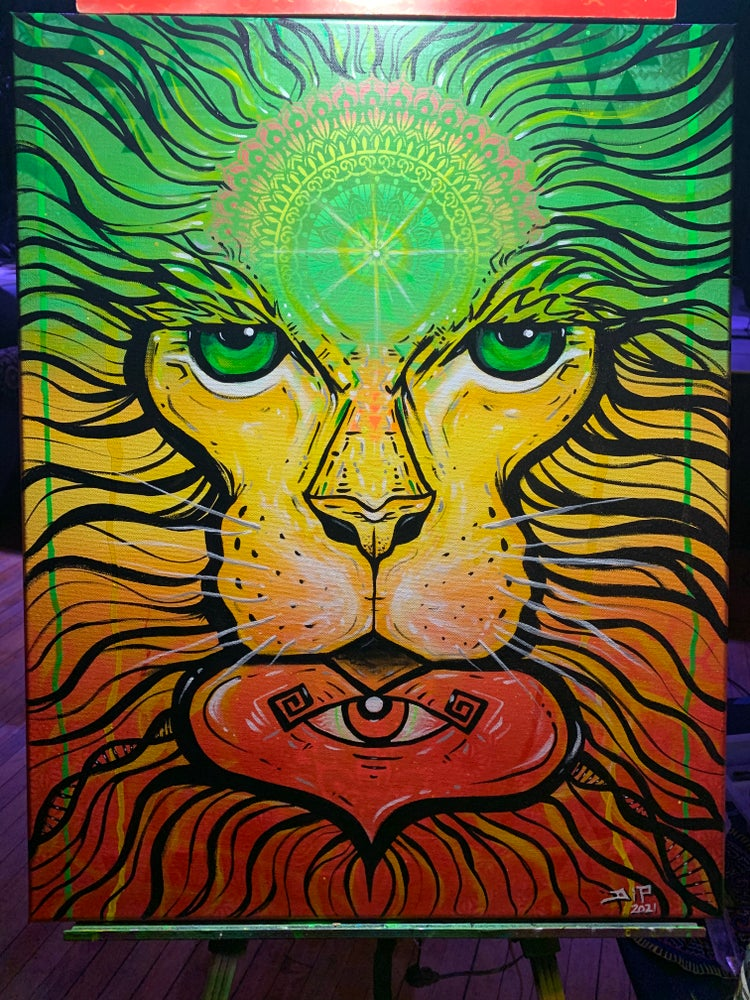 Image of Jah Lion - live painting