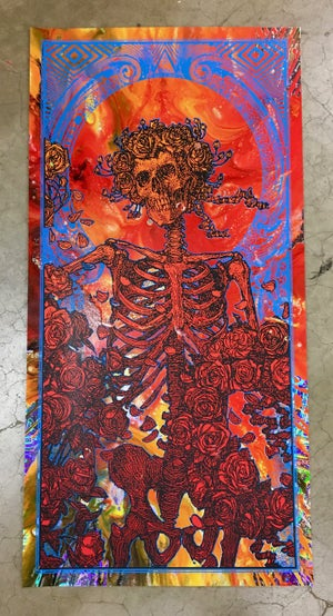 "Image of RARE ""IN GOD WE TRUST"" • LIQUID FIRE CENTRIFUGE ORIGINAL ART FOIL"