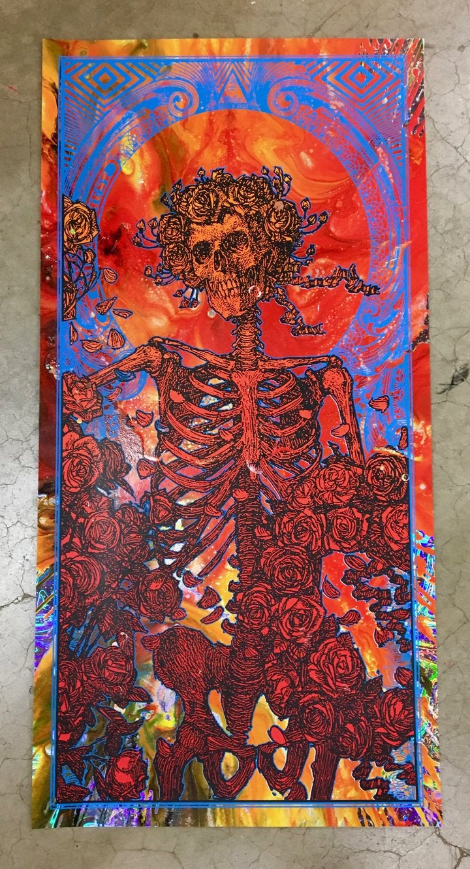 "Image of RARE ""IN GOD WE TRUST"" • LIQUID FIRE CENTRIFUGE ORIGINAL ART FOIL"