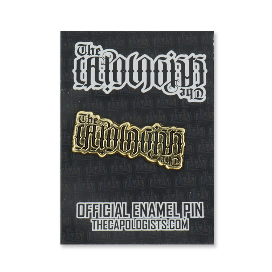 The Capologists Soft Enamel Pin - Bleed Blue / Fancy Gold
