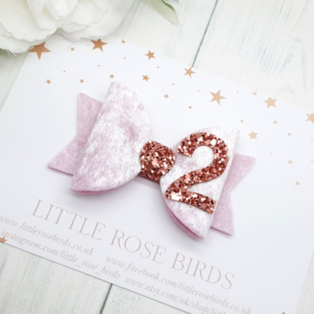Image of Pink & Rose Gold Birthday Bow