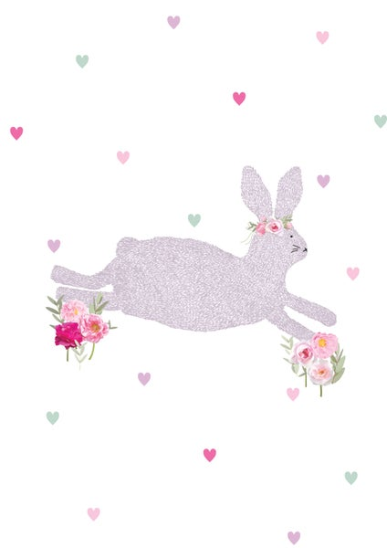 Image of Rose Bunny Print