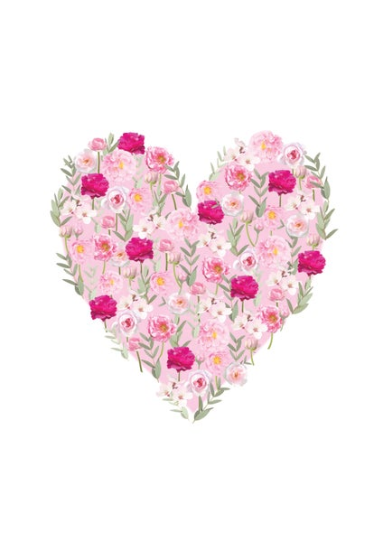 Image of Rose Heart Print