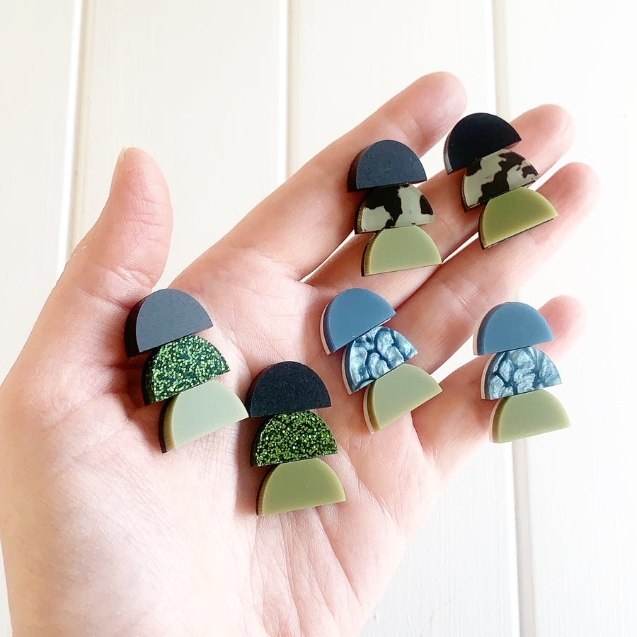 Image of New Stacked Trio Studs