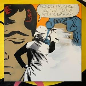 "Image of ""Ex Remover"" Original 1/1 on 50x50cm Deep Edge Canvas"