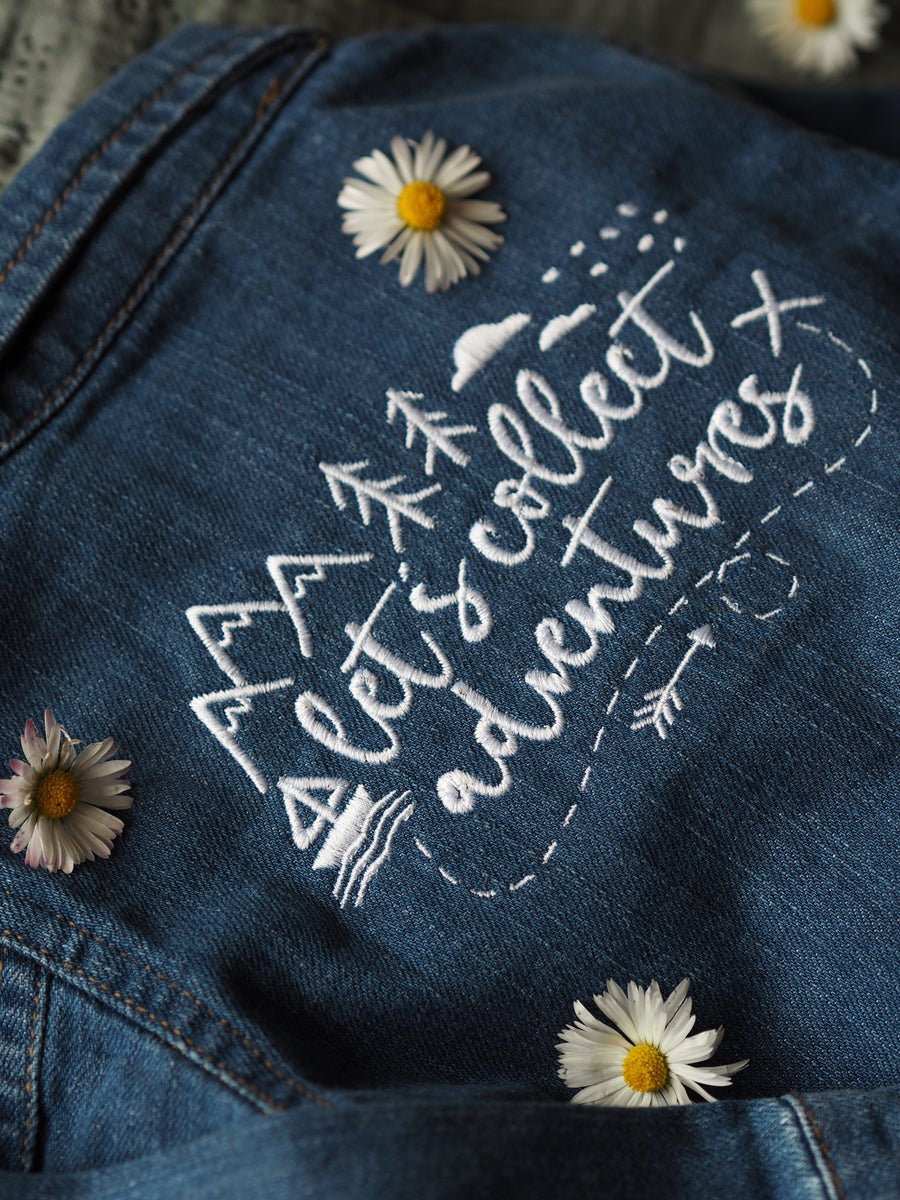 Image of  Children's denim jackets with Lets Collect Adventures