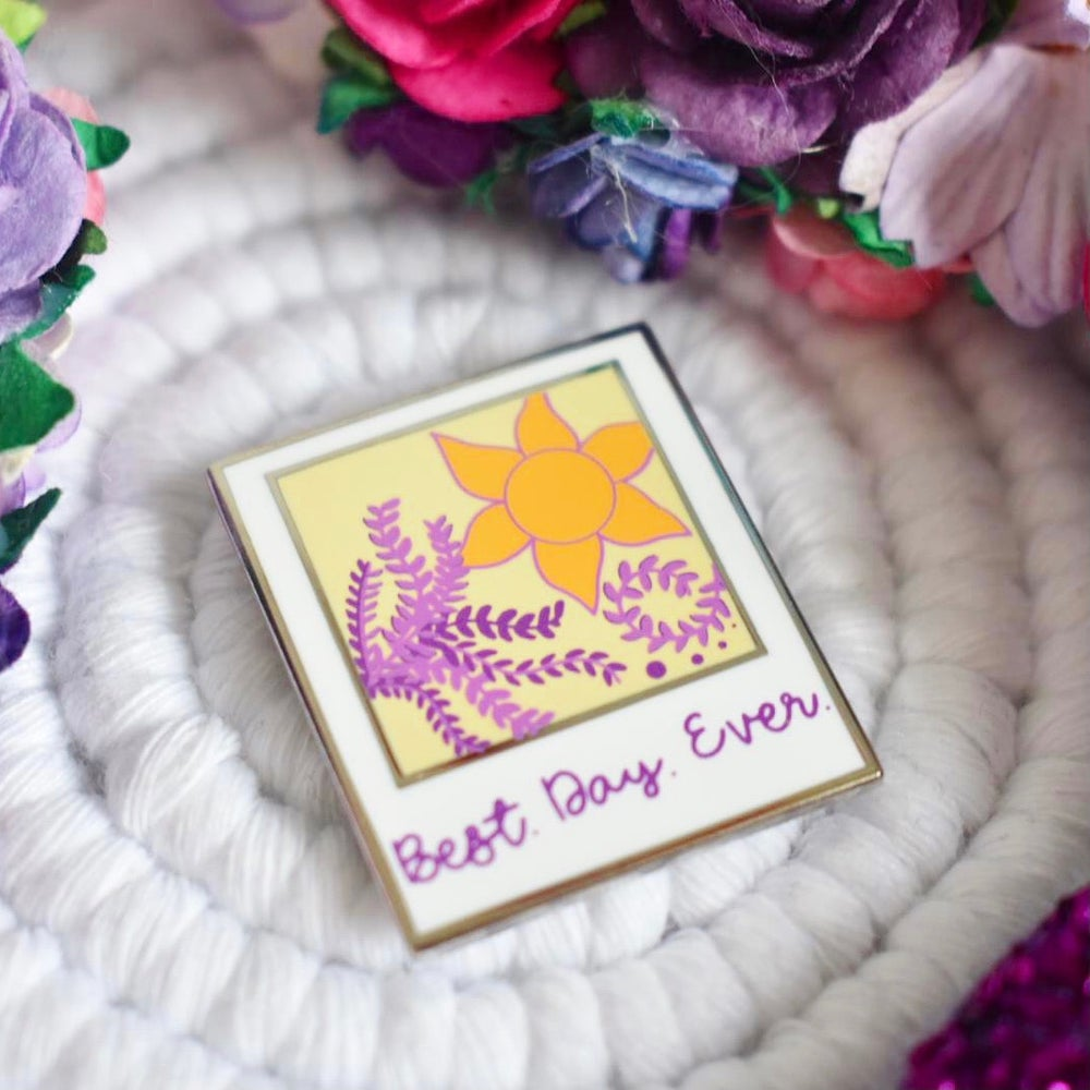 Image of Best Day Ever Polaroid pin