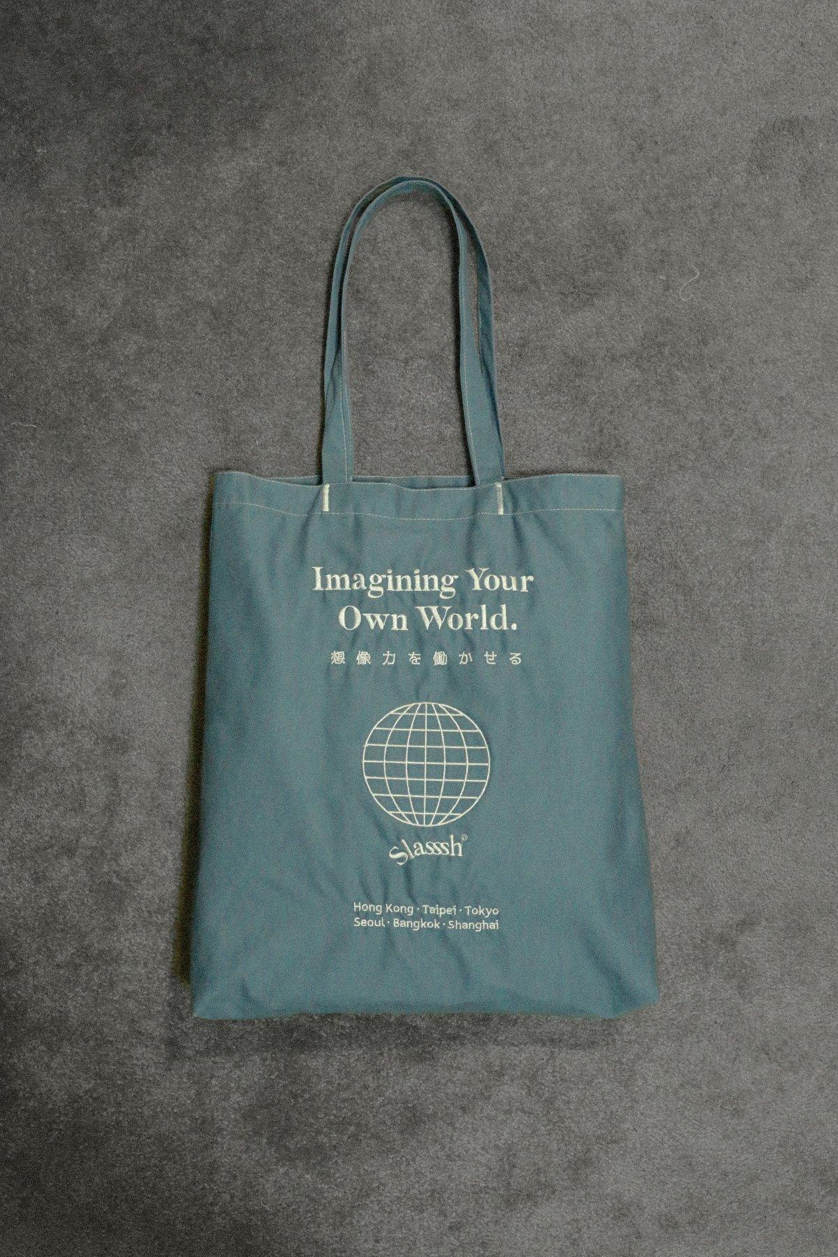 Image of Slasssh Imagine Your Own World Tote Bag