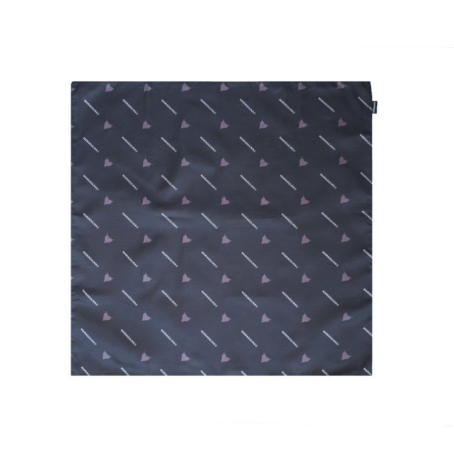 Image of FAUX SILK SCARF - BLACK