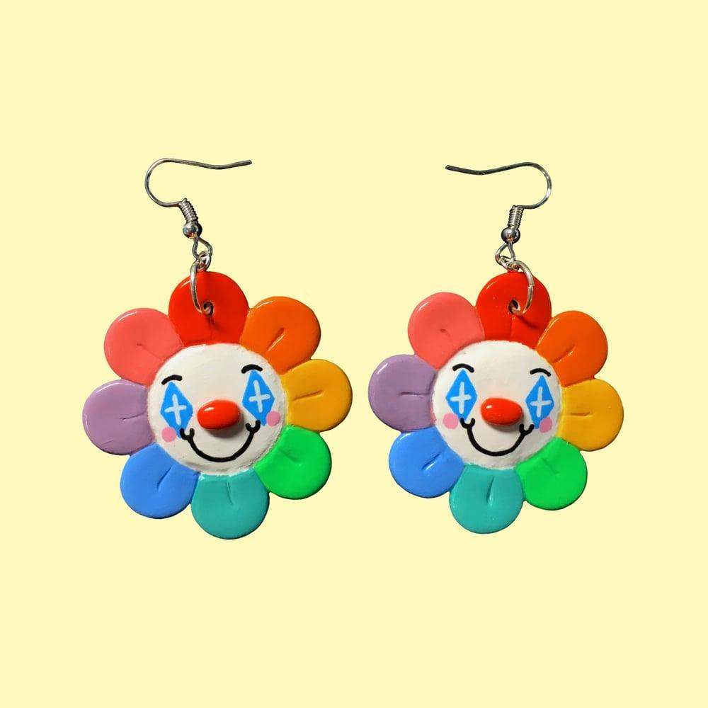 Flower Clown Earrings