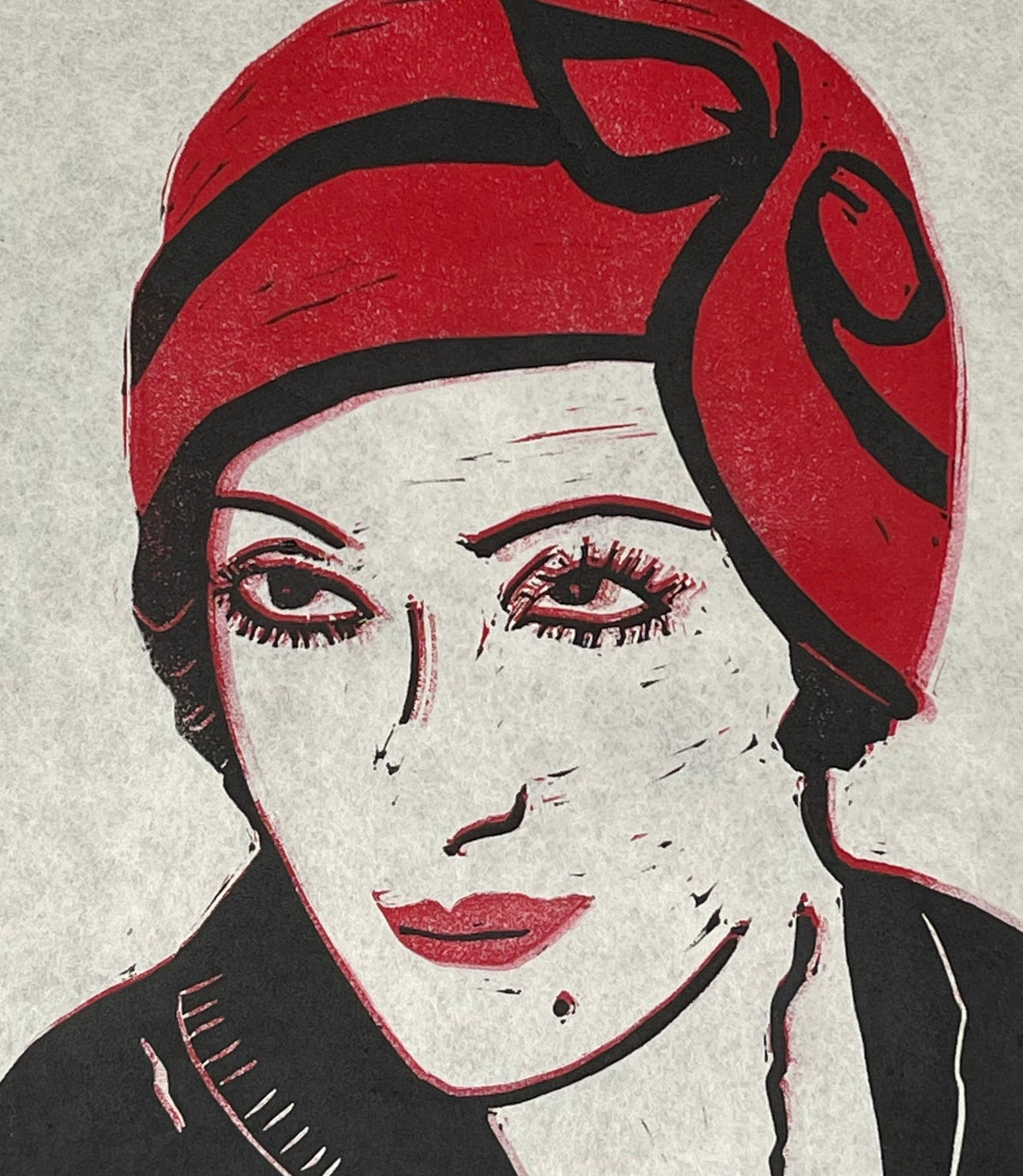"Image of ""Red Hat"" (very) Limited Edition 9"" x 12"" print"