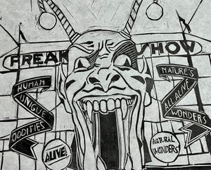 """Image of """"The Freak Show"""" (#2) Limited Edition 12"""" x 18"""" print"""