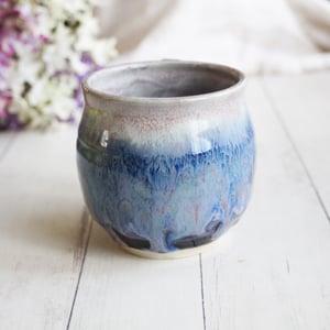 Image of Gorgeous Handmade Mug in Blue Purple Glaze, 15 oz, Ceramic Coffee Cup, Made in USA