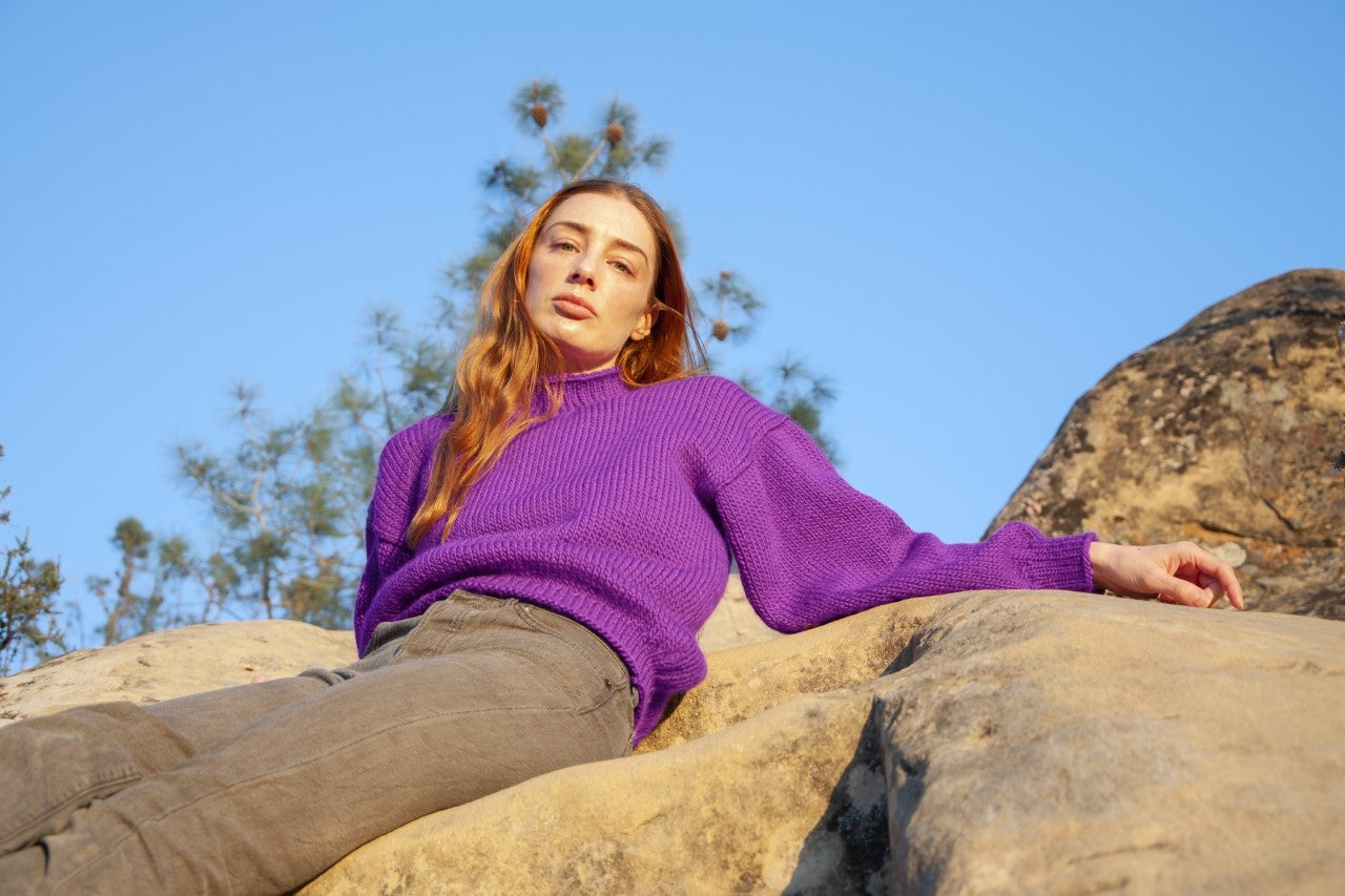 Image of Purple Sweater
