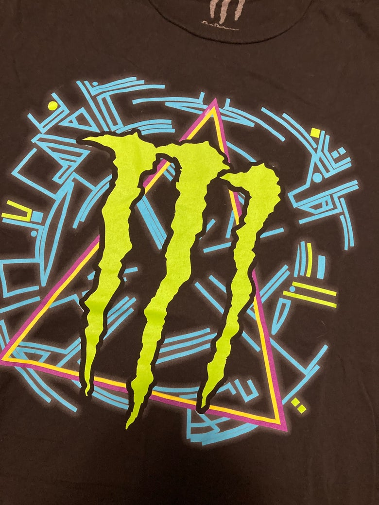 Image of Def Leppard Hysteria styled Monster Energy tour t-shirt in XL
