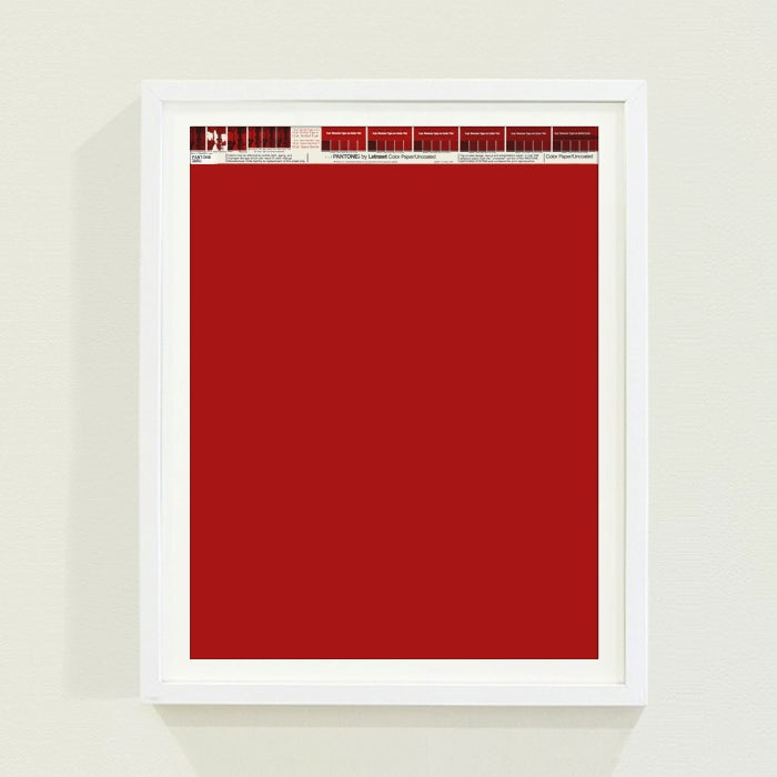 PANTONE® Letraset Posters × Reds