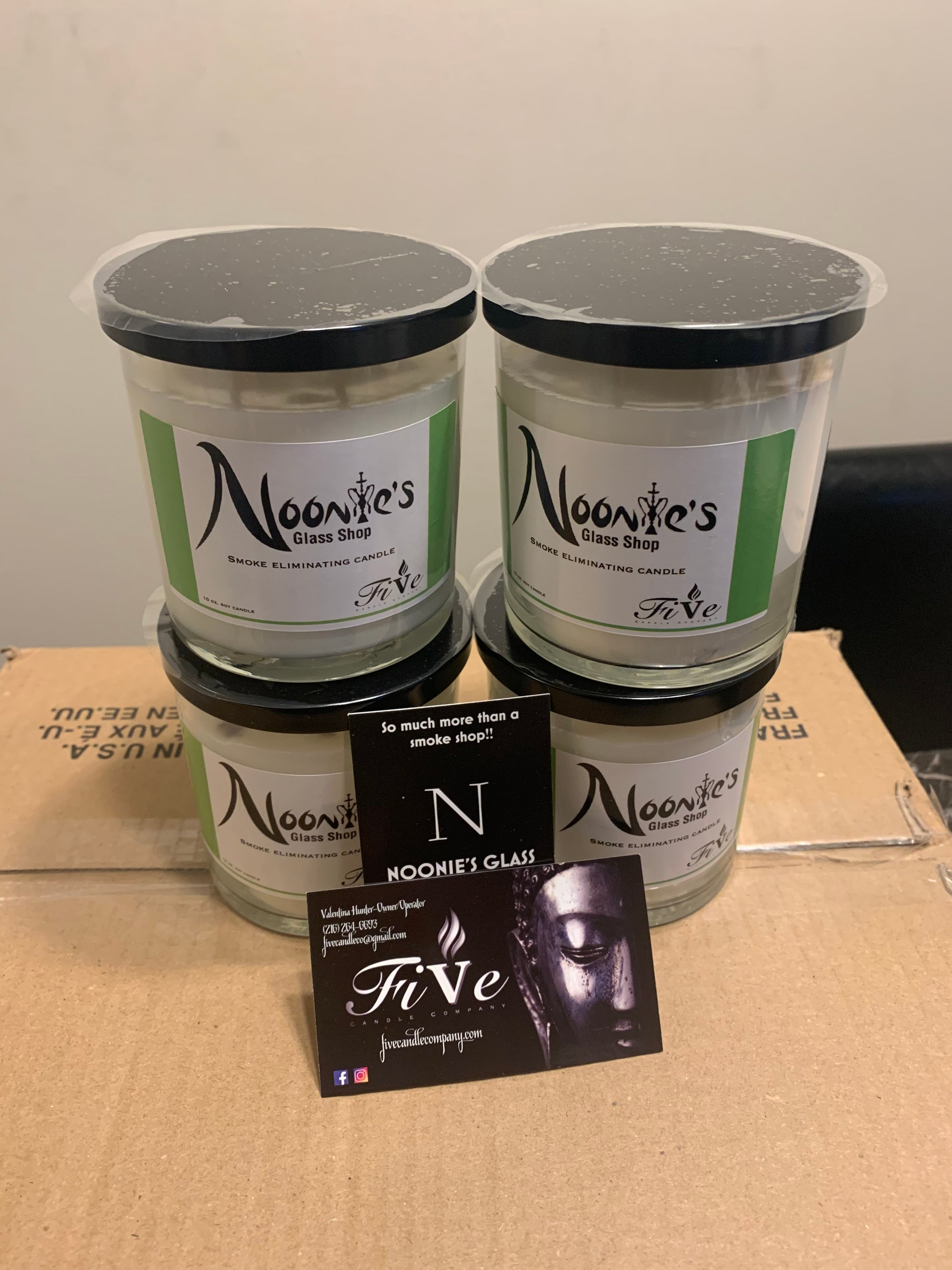 Image of Noonies/Five candle Co Odor Eliminator candle
